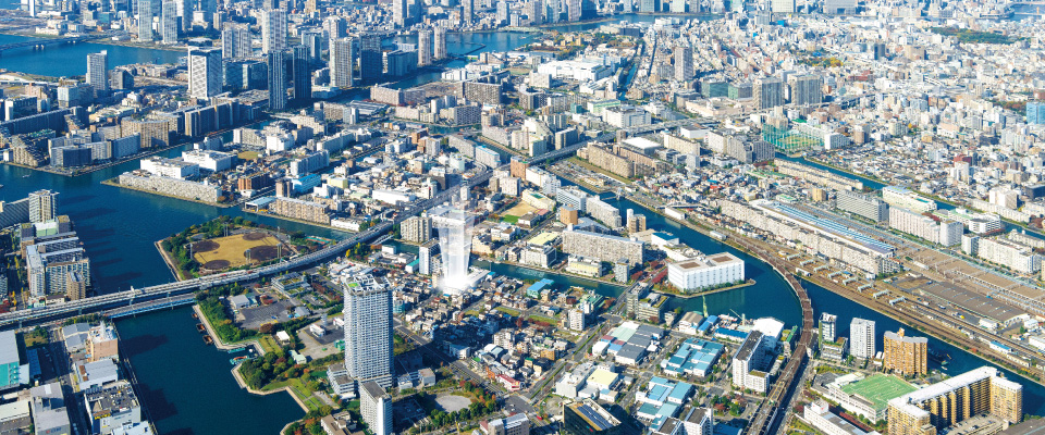上野浅草航空写真